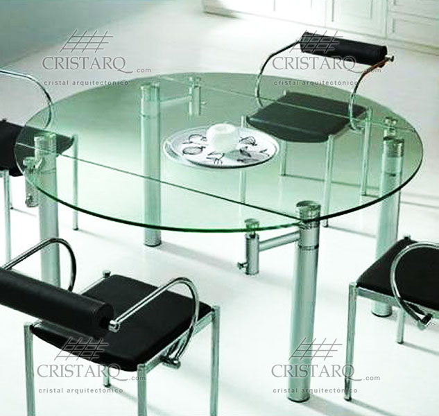 Cristarq galer a de trabajos realizados en cubiertas de for Mesas de comedor de vidrio redondas
